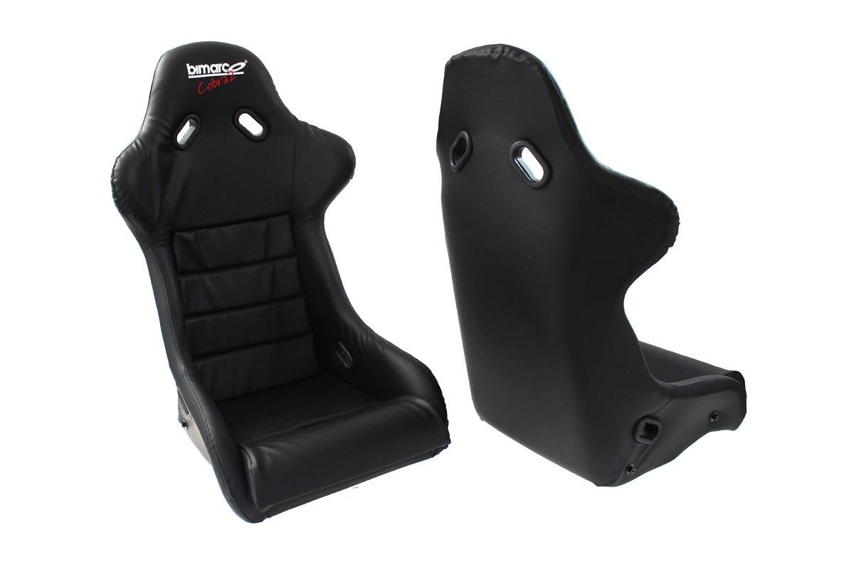 Fotel Sportowy Bimarco Cobra II Skaj Black - GRUBYGARAGE - Sklep Tuningowy